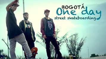 bogota one day street skateboarding