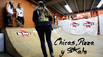 chicas skate y pizza